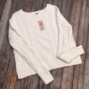 NWT gorgeous cream crotchet sweater